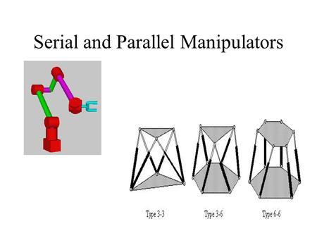 Serial and Parallel Manipulators