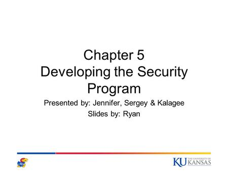 Chapter 5 Developing the Security Program
