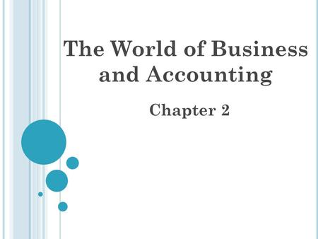 The World of Business and Accounting