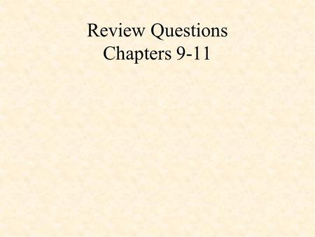 Review Questions Chapters 9-11. 1.What TUTOR command is used to enter a string of ASCII bytes into memory? /MA 2.What are the names of the 8086 index.