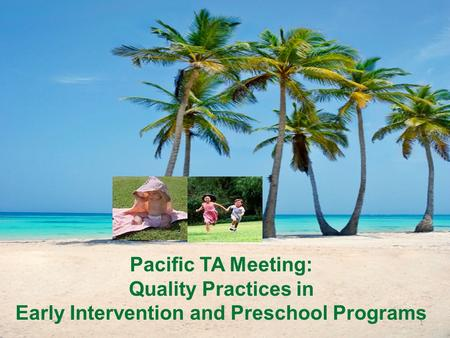 Early Intervention and Preschool Programs