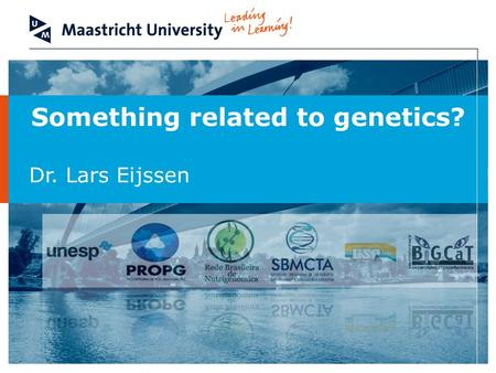Something related to genetics? Dr. Lars Eijssen. Bioinformatics to understand studies in genomics – São Paulo – June 9-11 2011 2 Image: