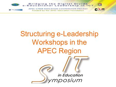 Structuring e-Leadership Workshops in the APEC Region.