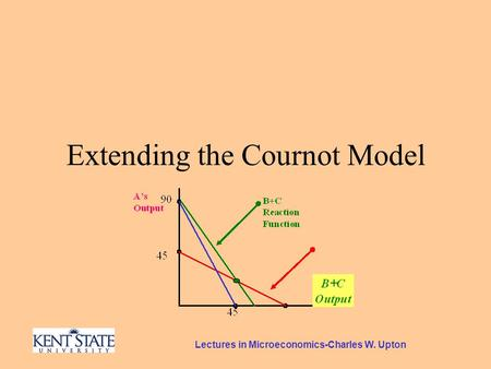 Lectures in Microeconomics-Charles W. Upton Extending the Cournot Model.