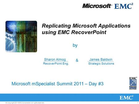 Replicating Microsoft Applications using EMC RecoverPoint