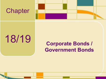 Corporate Bonds / Government Bonds