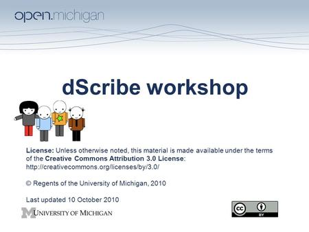 DScribe workshop License: Unless otherwise noted, this material is made available under the terms of the Creative Commons Attribution 3.0 License: