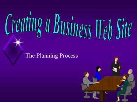 1 The Planning Process Creating a Business Web Site By Paul Lazarony 2 Business Web Site Design Steps in the Planning Process u Software u Purpose u.