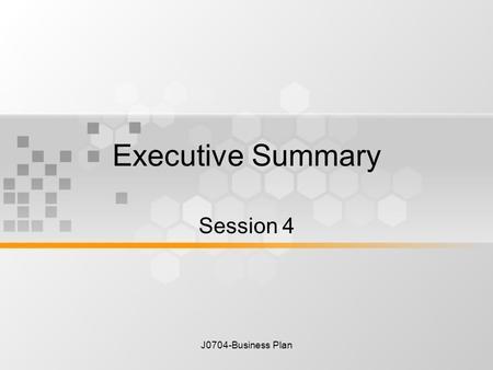 summarized business plan