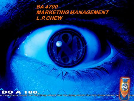 BA 4700 MARKETING MANAGEMENT L.P.CHEW. Industry Background Rapidly Growing, Highly Profitable More than 200 types of energy drinks available in U.S. $3.