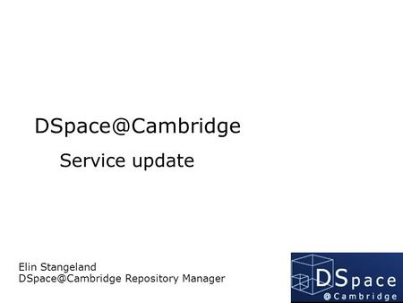 Service update Elin Stangeland Repository Manager.