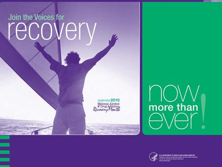 1. 2 Recovery Month - 2010 National Alcohol and Drug Addiction Recovery Month 21 st Anniversary in 2010 2010 Theme – Join the Voices for Recovery: Now.