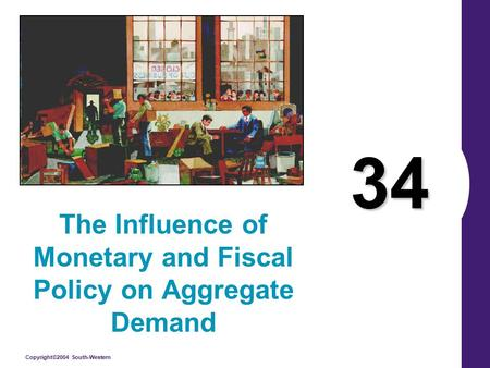 Copyright©2004 South-Western 34 The Influence of Monetary and Fiscal Policy on Aggregate Demand.