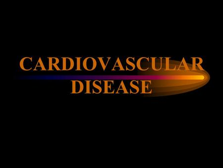 CARDIOVASCULAR DISEASE 2 CARDIAC ARREST VS. HEART ATTACK.