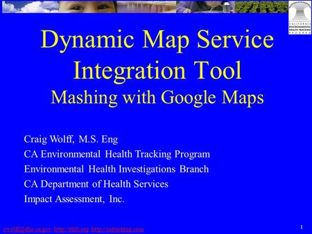 1   Dynamic Map Service Integration Tool Mashing.