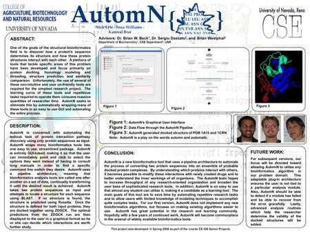 DESCRIPTION: AutomN is concerned with automating the tedious task of protein interaction pathway discovery using only protein sequences as input. AutomN.