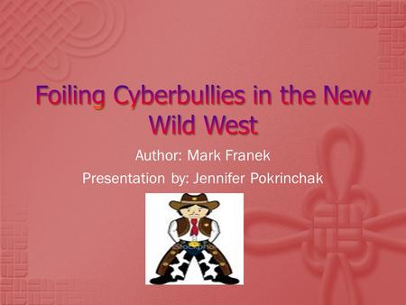 Author: Mark Franek Presentation by: Jennifer Pokrinchak.