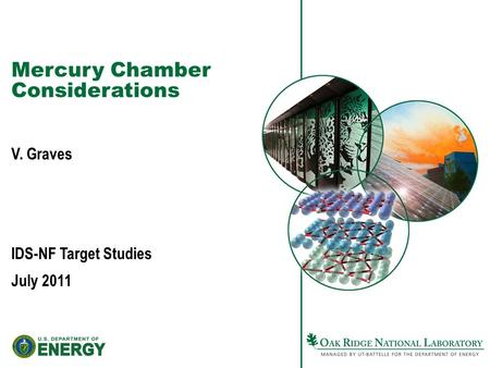 Mercury Chamber Considerations V. Graves IDS-NF Target Studies July 2011.