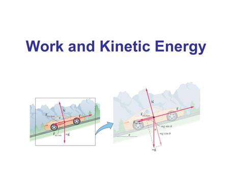 Work and Kinetic Energy. Work Done by a Constant Force The definition of work, when the force is parallel to the displacement: (7-1) SI unit: newton-meter.
