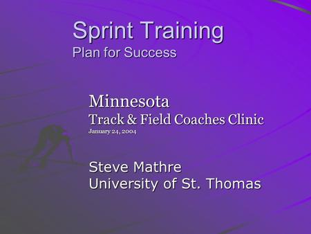 Sprint Training Plan for Success