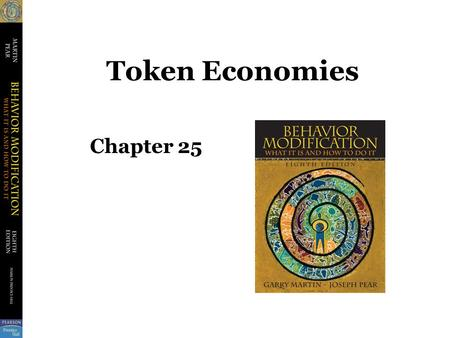 Token Economies Chapter 25. Some Definitions Conditioned Reinforcers –Not originally reinforcing but becomes reinforcer after being paired with other.