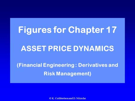 © K. Cuthbertson and D. Nitzsche Figures for Chapter 17 ASSET PRICE DYNAMICS (Financial Engineering : Derivatives and Risk Management)