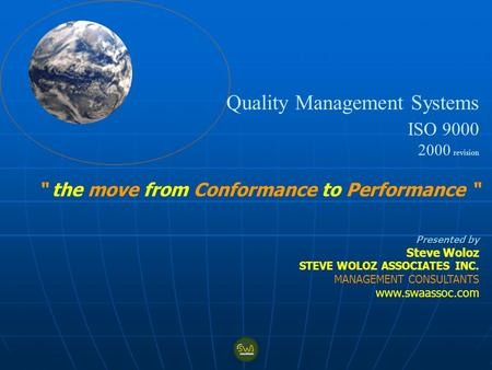 Quality Management Systems ISO 9000