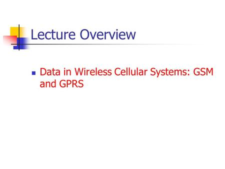 NETWORK ARCHITECTURES PDF AND WIRELESS LIN YI BING MOBILE