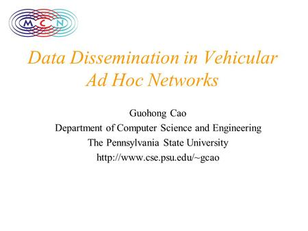 thesis on vehicular ad hoc network Detection and isolation of packet droppers in wireless ad-hoc networks by yu zhang a thesis submitted to the faculty of the vehicular networks.