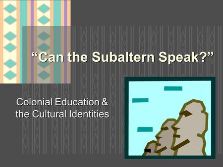 post colonialism ii 2 3 4 5 6 7 8 9 10 learning outcomes analyse and interpret at an advanced  level literary texts on post-colonial literature in english, learning to distinguish.