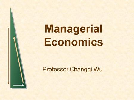 Managerial Economics Professor Changqi Wu. IntroductionSlide 2 Oil Reserves.