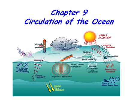 Chapter 9 Circulation of the Ocean. Surface Currents Are Driven by the Winds The westerlies and the trade winds are two of the winds that drive the ocean's.