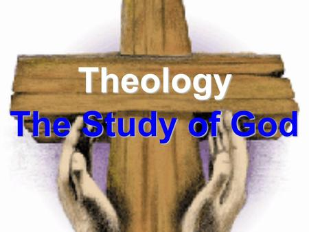 Theology The Study of God. Systematic Theology Studying God by looking at the different aspects of His character separately. Different Areas of Systematic.