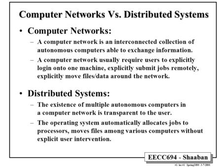Computer Networking general subjects in college