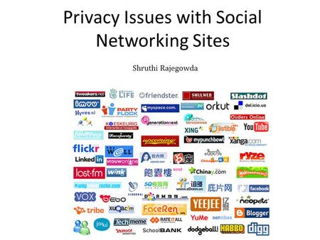 Privacy Issues with Social Networking Sites Ai Ho, Abdou Maiga, Esma Aïmeur Département d'informatique et de recherche opérationnelle Université de Montréal.