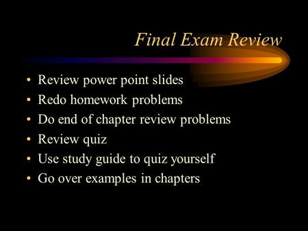 Final Biology Exam *