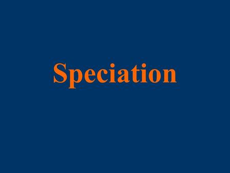 Speciation. We can separate speciation into a three-step process: An initial step that isolates populations; A second step that results in the divergence.