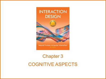 Chapter 3 COGNITIVE ASPECTS.