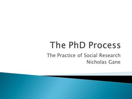 The Practice of Social Research Nicholas Gane.  Designed to address some key practical issues in social research, regardless of your disciplinary background.