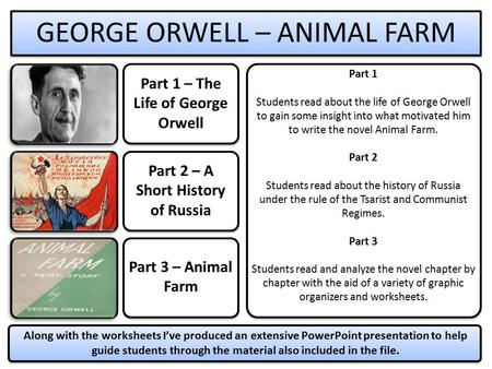 Part 1 – The Life of George Orwell Part 2 – A Short History of Russia