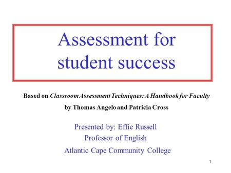 assessment student confidence and school success Primer: education issues - variables affecting student achievement introduction student achievement is not simply a matter of what happens in school although schools can and do make a significant difference, research has identified numerous factors which affect student success.