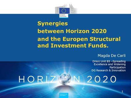 and the Europen Structural and Investment Funds.