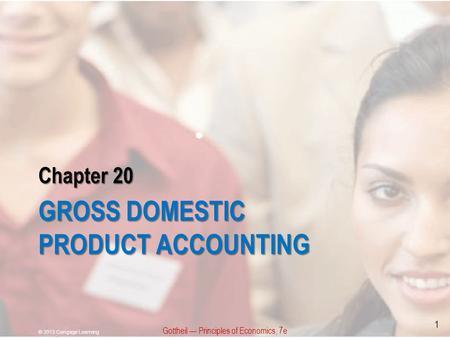 Chapter 20 GROSS DOMESTIC PRODUCT ACCOUNTING Gottheil — Principles of Economics, 7e © 2013 Cengage Learning 1.