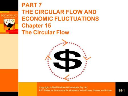 Copyright  2005 McGraw-Hill Australia Pty Ltd PPT Slides t/a Economics for Business 3e by Fraser, Gionea and Fraser 15-1 PART 7 THE CIRCULAR FLOW AND.