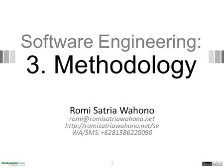 Software Engineering: 3. Methodology