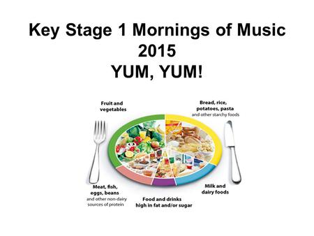 Key Stage 1 Mornings of Music 2015 YUM, YUM!. Coventry Godcakes.