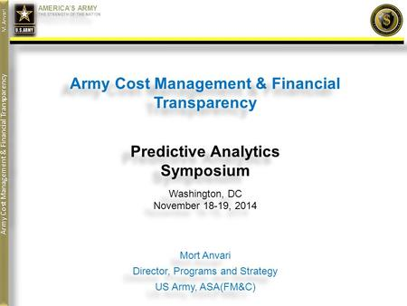 Army Cost Management & Financial Transparency