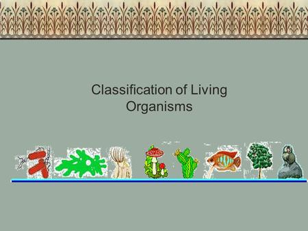 Classification of Living Organisms. As living things are constantly being investigated, new attributes are revealed that affect how organisms are placed.