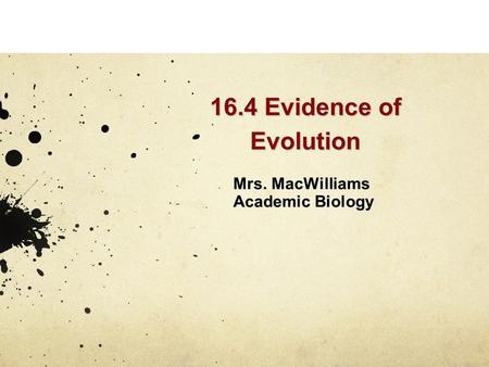 Mrs. MacWilliams Academic Biology
