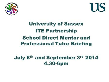 School Direct Mentor and Professional Tutor Briefing